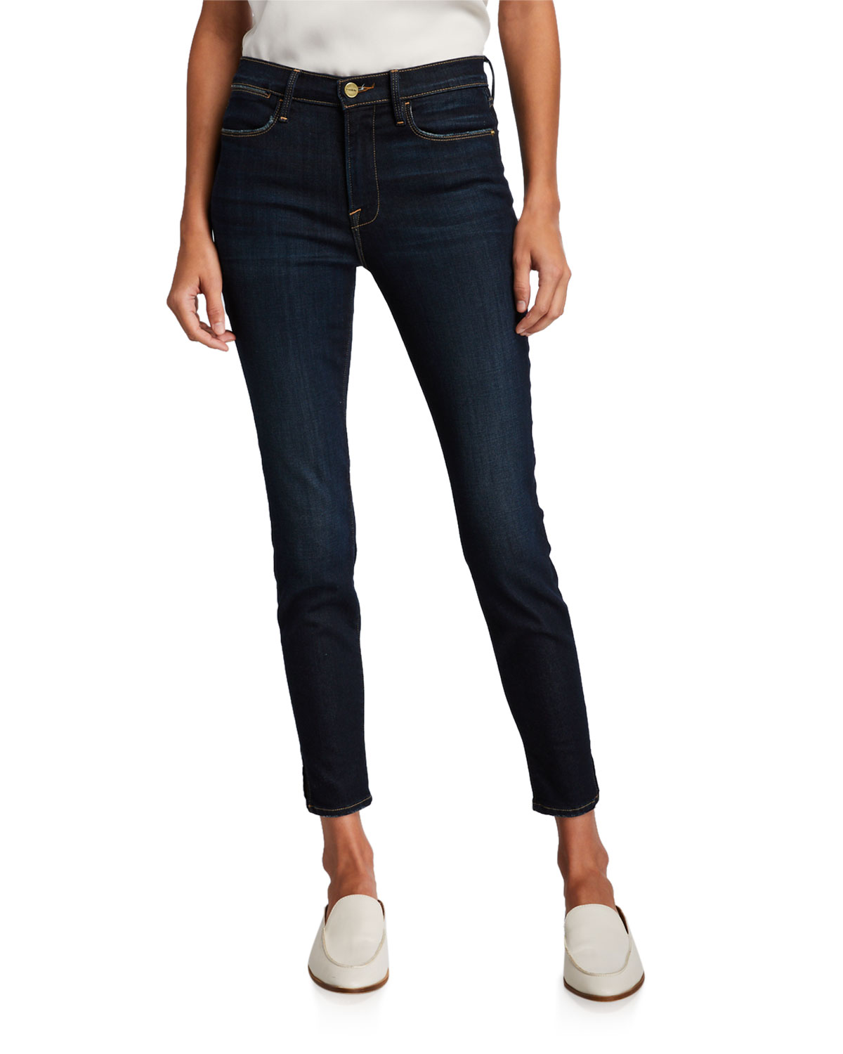 Frame Jeans LE HIGH SKINNY JEANS WITH SPLIT SEAM