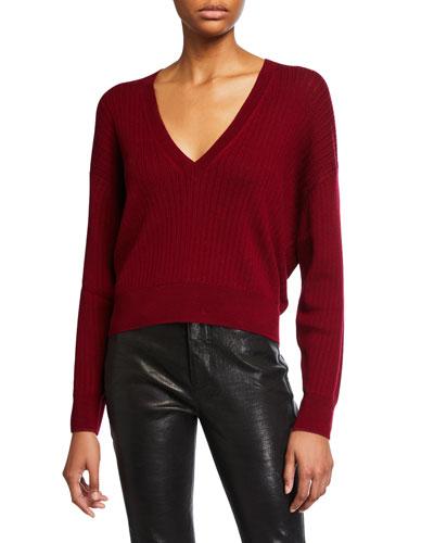 Theta Ribbed Wool Sweater