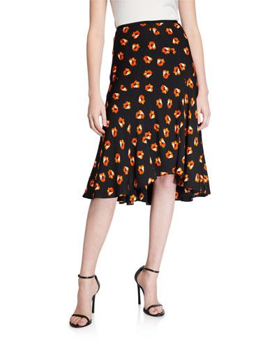 Debra Floral-Print Skirt