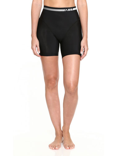 French-Cut Biker Shorts