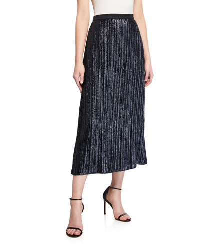 Nova Metallic Midi Skirt