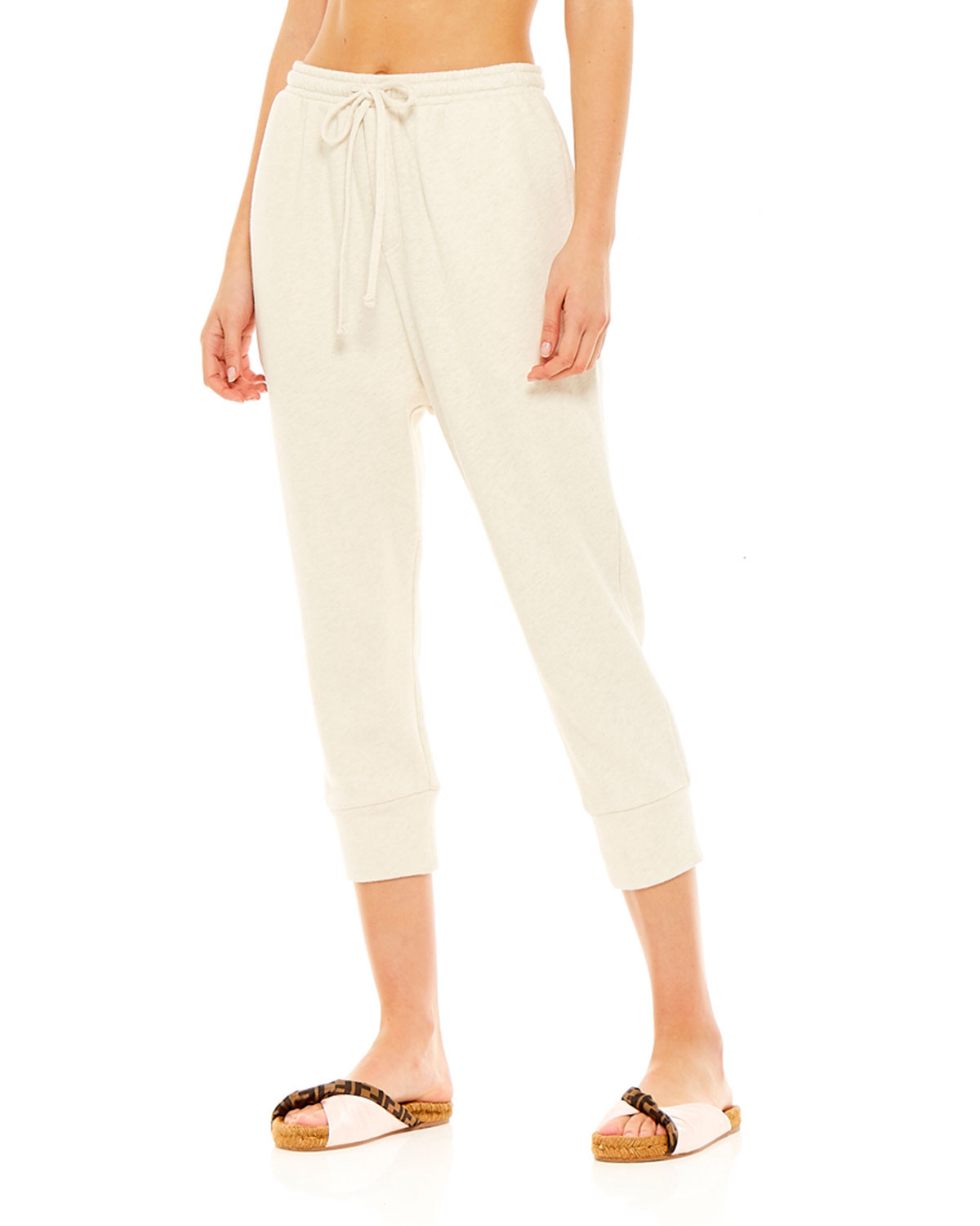 The Upside Pants LEAH DRAWSTRING CROPPED TRACK PANTS