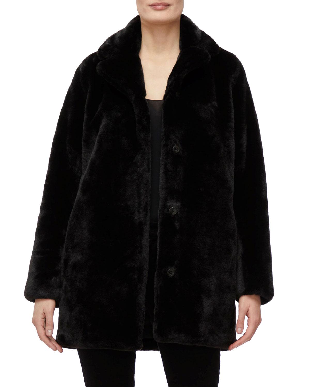 J Brand Coats DORENE FAUX-FUR COAT