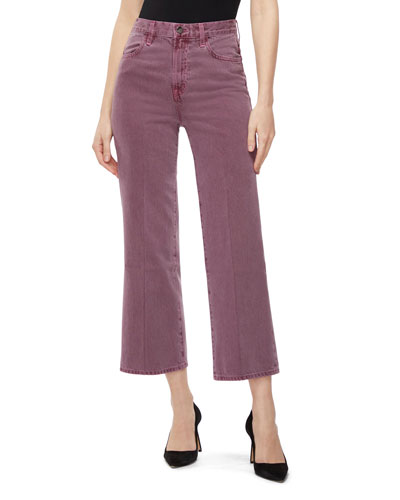 Joan High-Rise Crop Wide-Leg Jeans