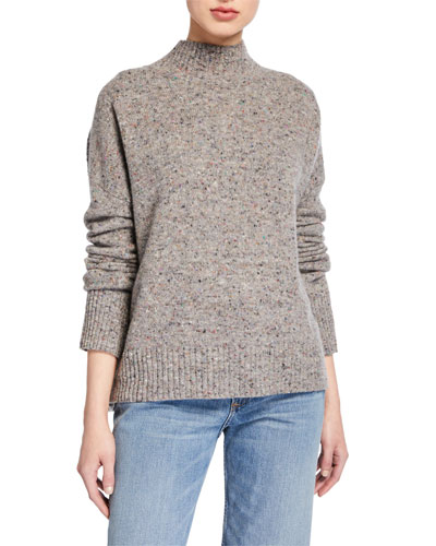 Parsons Mock-Neck Speckled Sweater