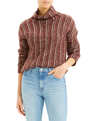 Inlay Turtleneck Sweater