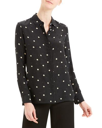 Printed Classic Button-Down Straight Shirt