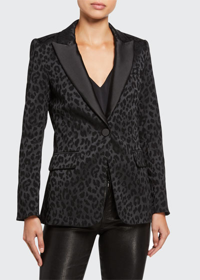 Ashburn Leopard-Print Dickey Jacket