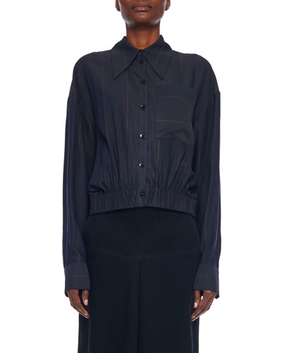 Twill Striped Double Layer Shirt