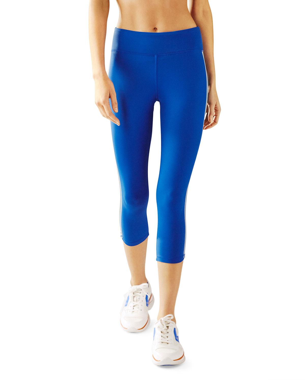 Tory Sport Pants SIDE-STRIPED CROPPED LEGGINGS