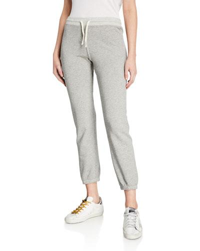 Cropped Drawstring Sweatpants