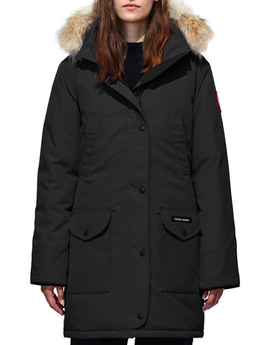 Trillium Down Parka Coat w/ Natural Coyote Fur Trim