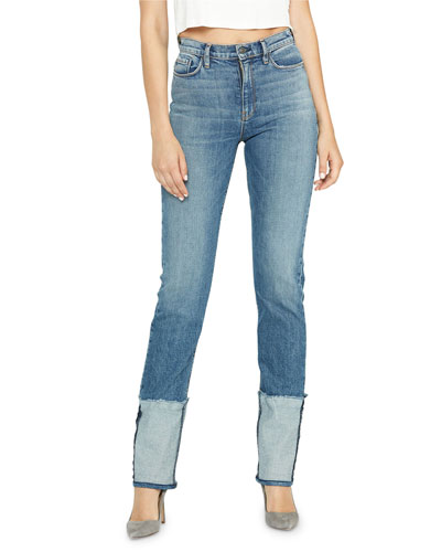 Holly High-Rise Deep-Cuff Jeans