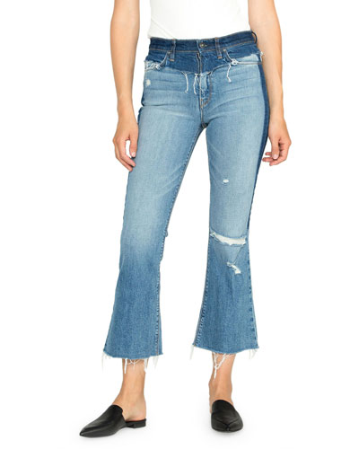 Holly High Rise Cropped Flare Jeans