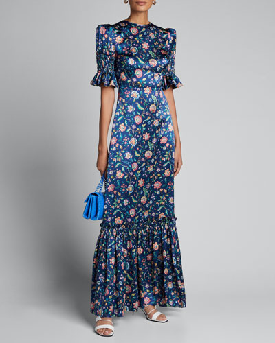 The Night Flight Floral Maxi Dress