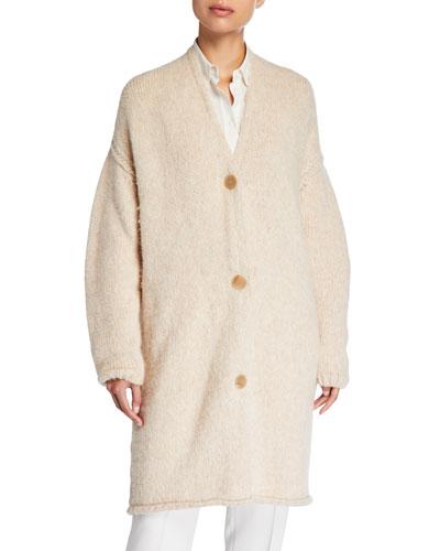 Baby Alpaca Knit Cardigan Coat