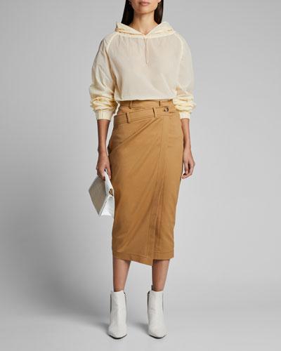 Simone Wrap Pencil Skirt