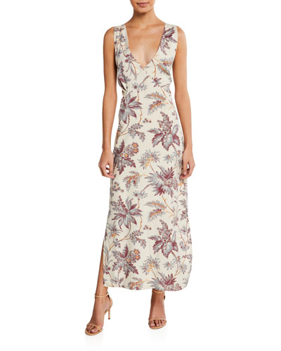 Avery Floral-Print Maxi Slip Dress