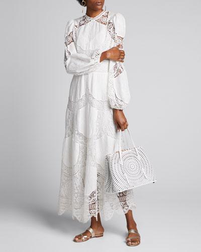 Bonita Crochet Long Dress