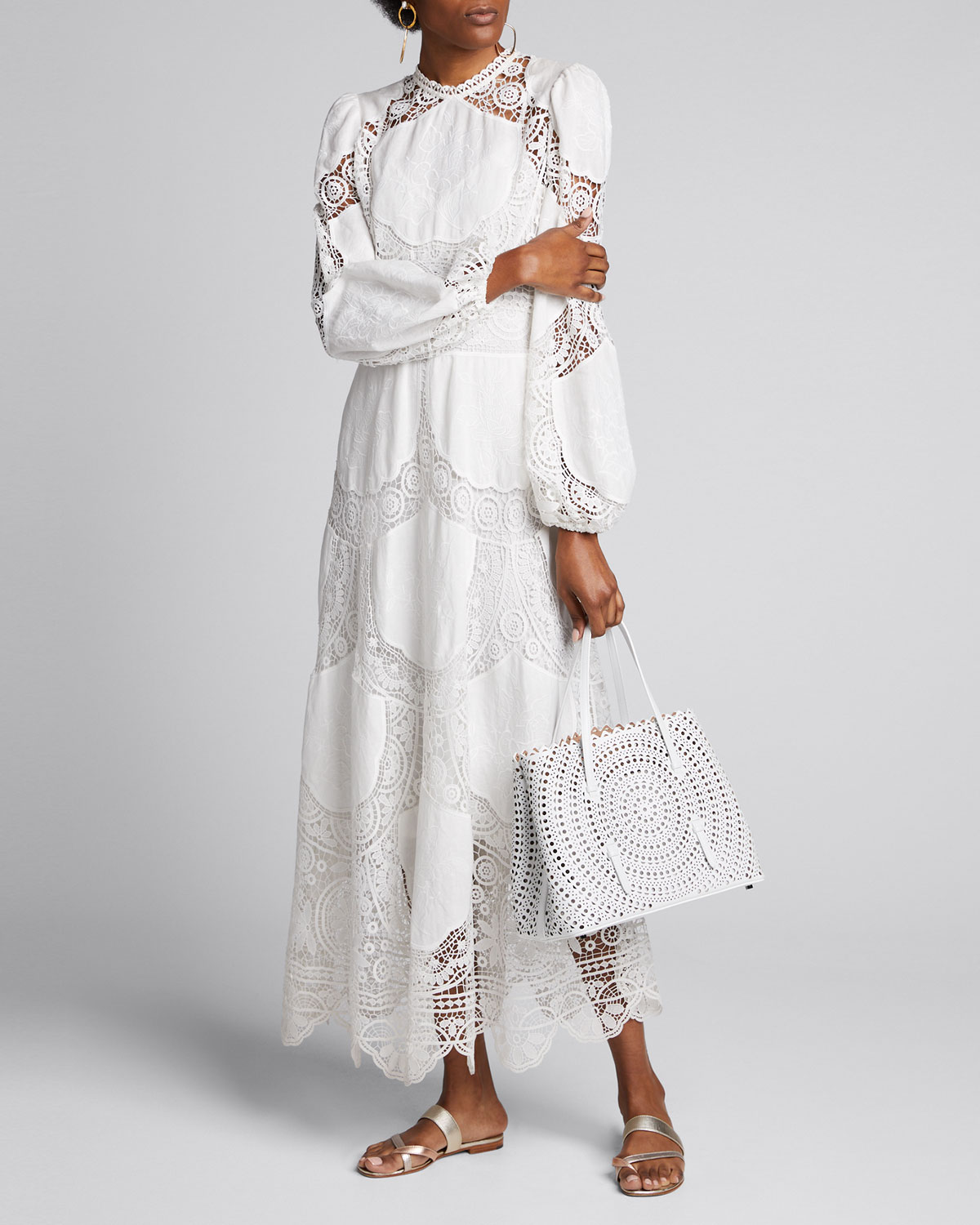 Zimmermann Dresses BONITA CROCHET LONG DRESS