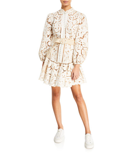 Edie Button-Down Short Dress