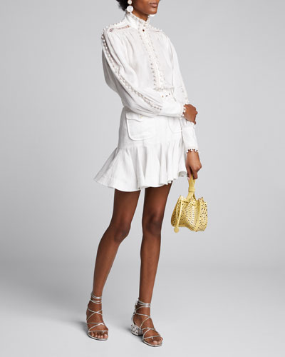 Super Eight Corded High-Neck Blouse