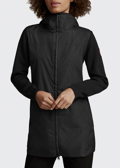 Windbridge Hooded Wool Jacket w/ Water-Resist Panels