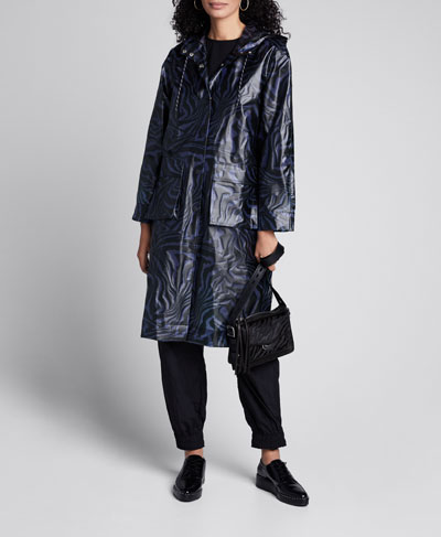 Biodegradable Printed Rain Jacket
