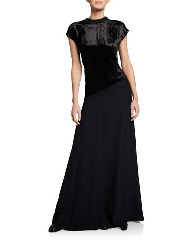 Deep Back V Dress