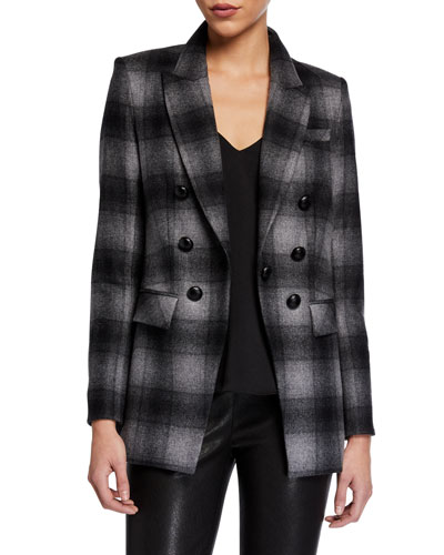 Matteo Double-Breasted Plaid Dickey Jacket