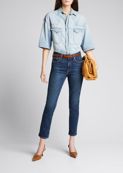 Irina Mid-Rise Cigarette Jeans