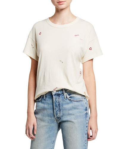The Boxy Crew Embroidered Tee