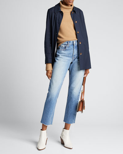 Constance Straight-Leg Cropped Jeans