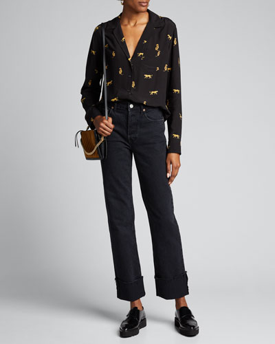 Berit Cuffed Straight-Leg Jeans