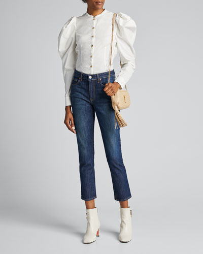 Irina Cropped Straight-Leg Jeans
