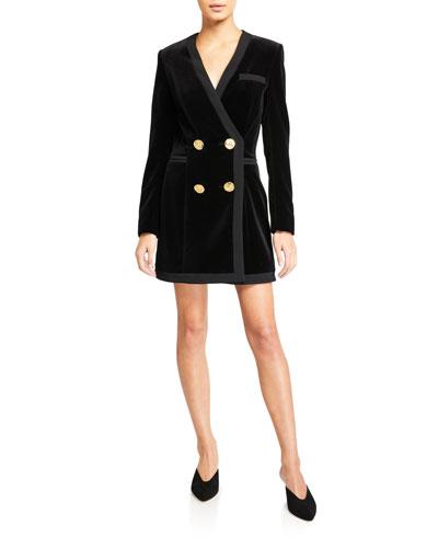 Bree Velvet Blazer Mini Dress
