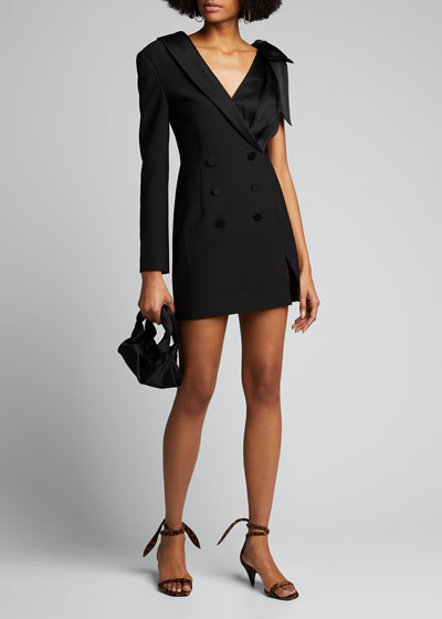 Luxe Wool Satin Combo Suit Dress