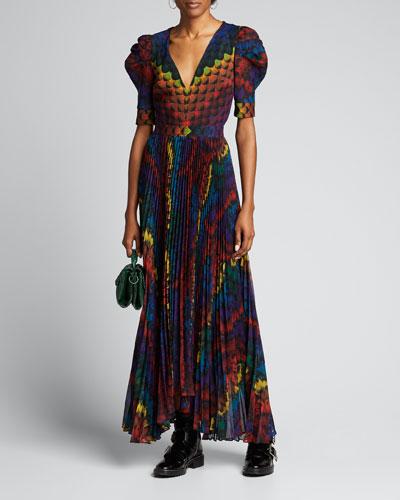 Heaven Pleated High-Low Dress