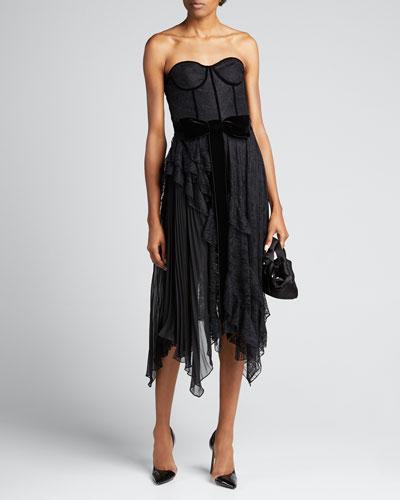 Bree Ruffle Pleated Handkerchief Dress
