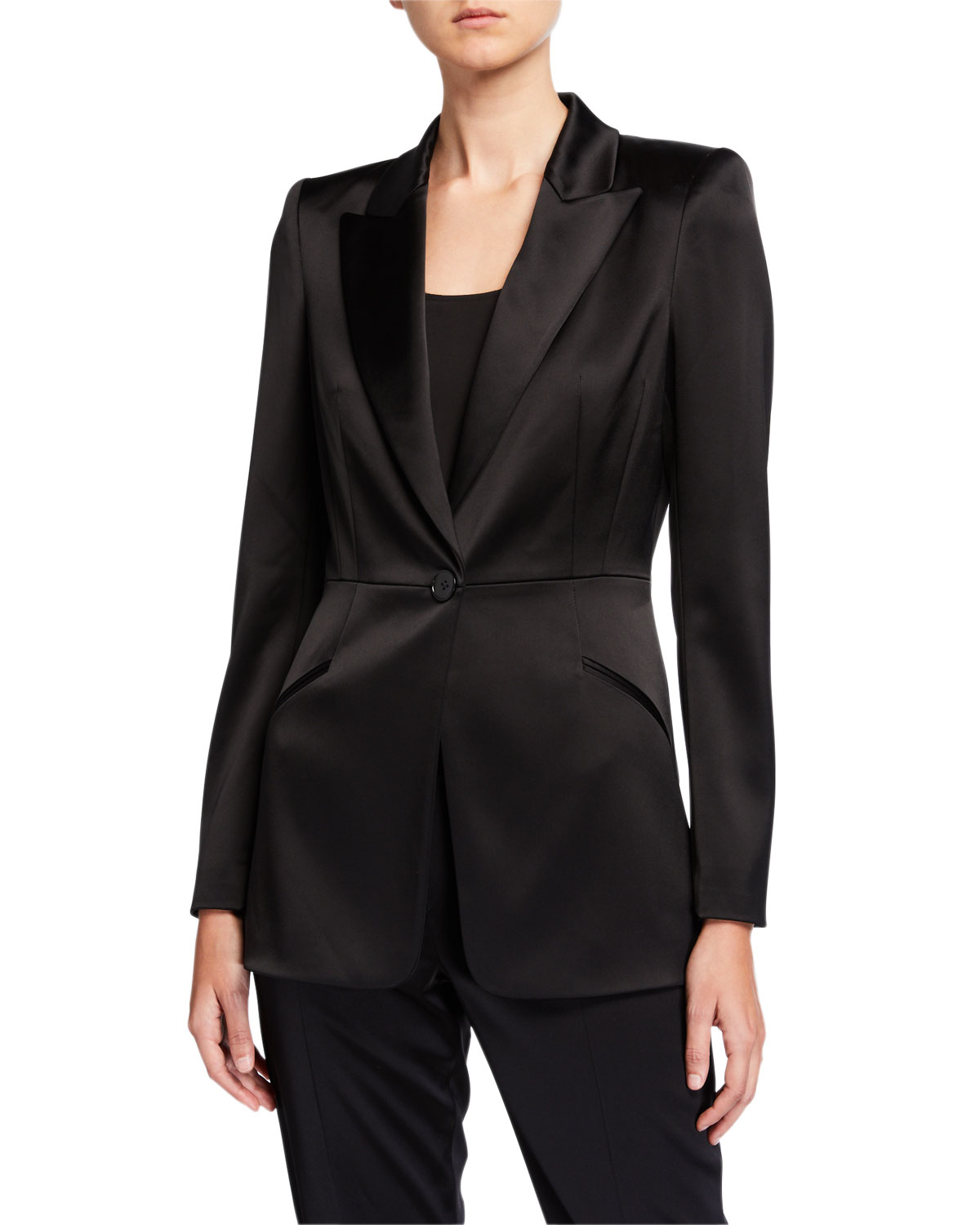 Elie Tahari Jackets MADISON SATIN JACKET