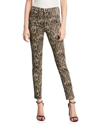 Kate Leopard High Rise Skinny Jeans
