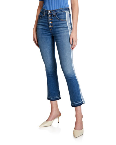 Carolyn Baby Boot Cropped Jeans with Tux Side