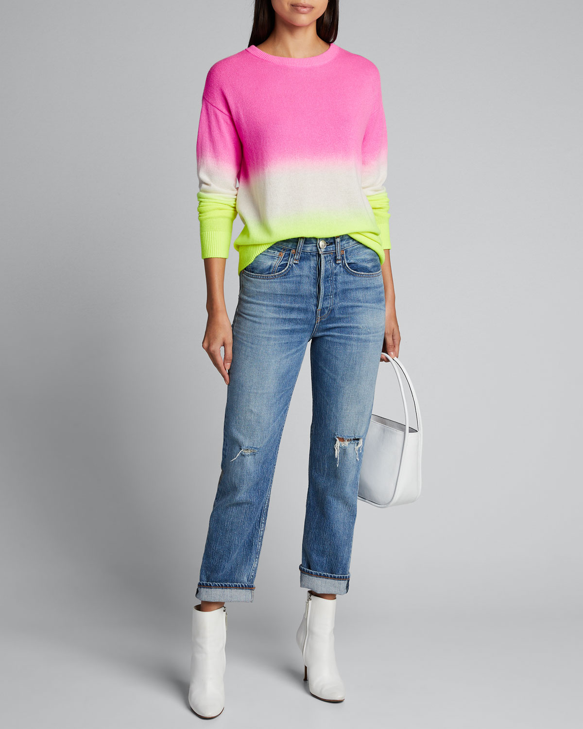 Alice And Olivia Tops GLEESON DIP-DYE LONG-SLEEVE PULLOVER