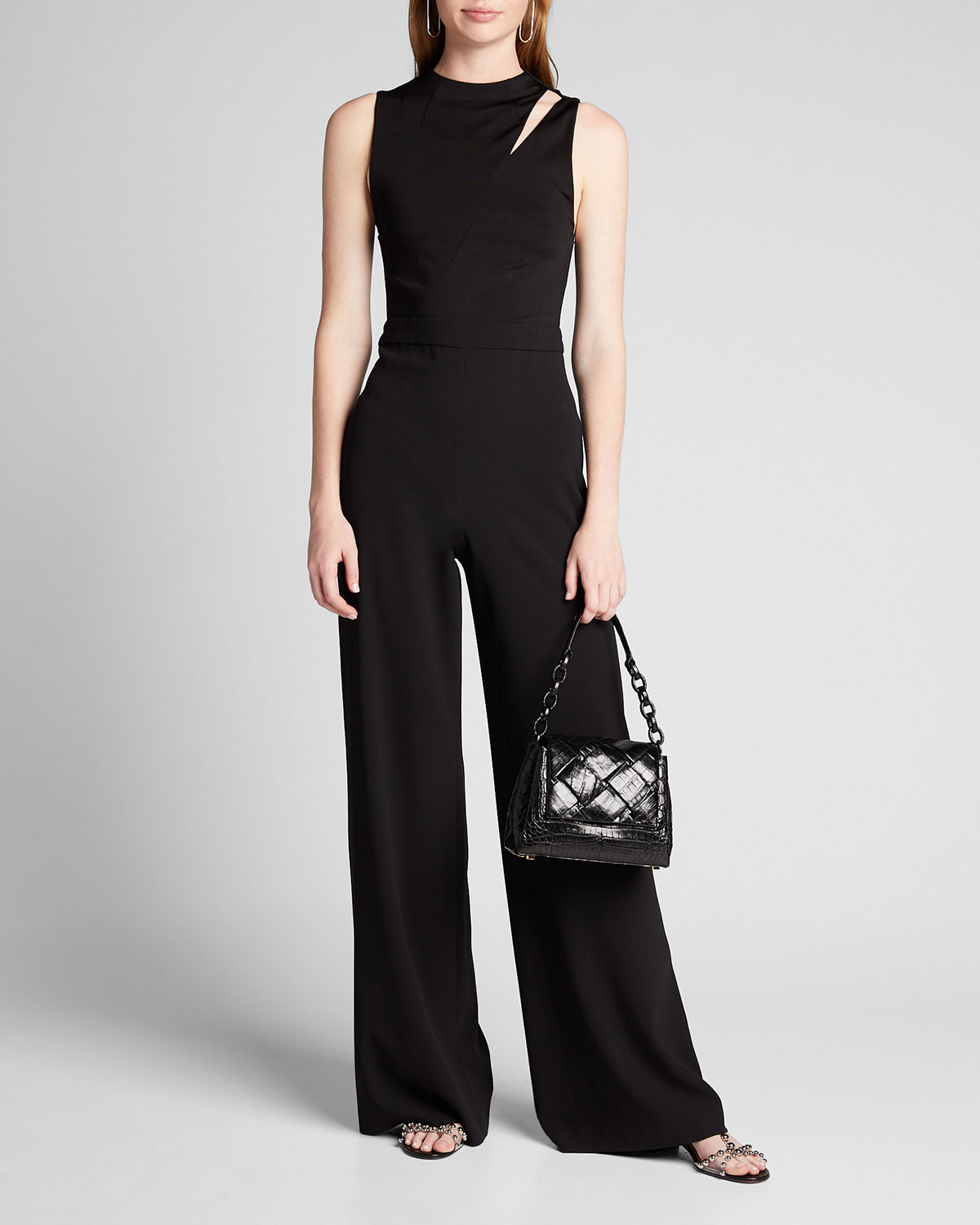 Alice And Olivia Suits IVY FITTED CUTOUT JUMPSUIT