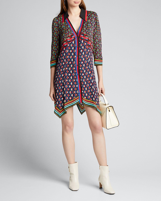 Alice And Olivia Dresses CONNER HANDKERCHIEF SHIRT DRESS