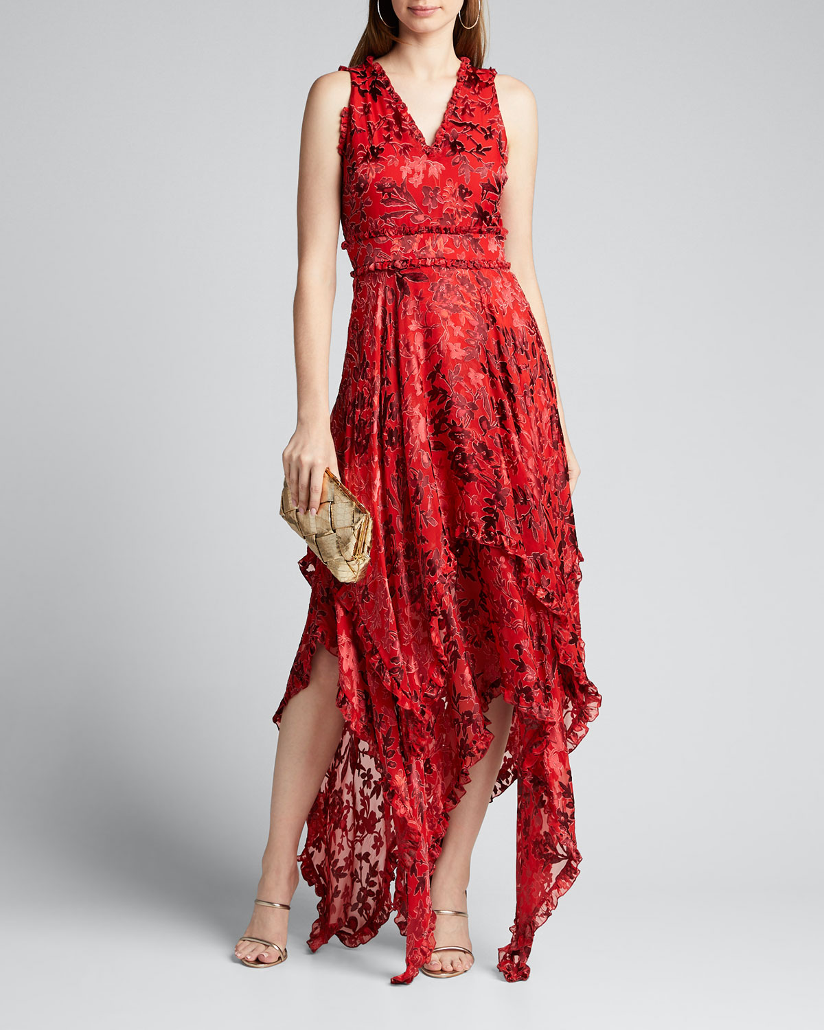 Alice And Olivia Dresses SAMMI DOUBLE-LAYERED HANDKERCHIEF DRESS