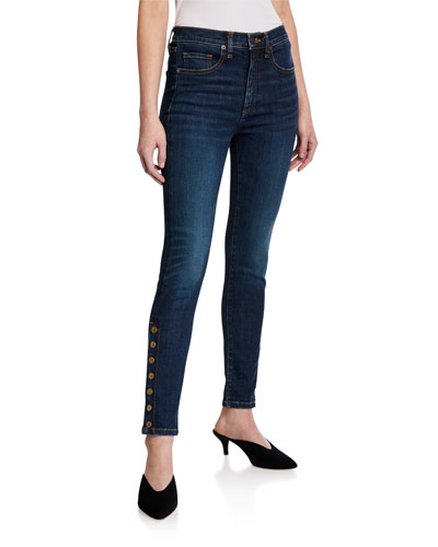 Debbie High-Rise Skinny Jeans w/ Side Vents
