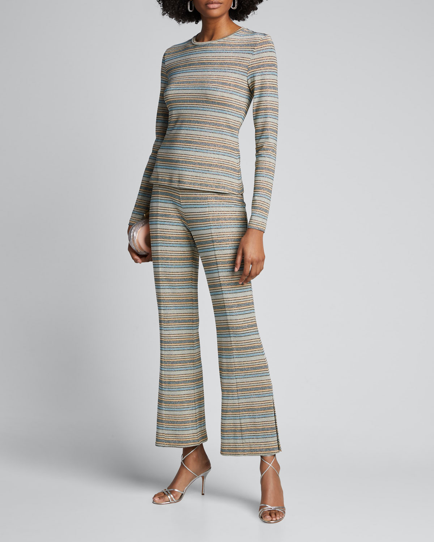 Stine Goya Pants MELANIE MID-RISE BOOT-CUT PANTS