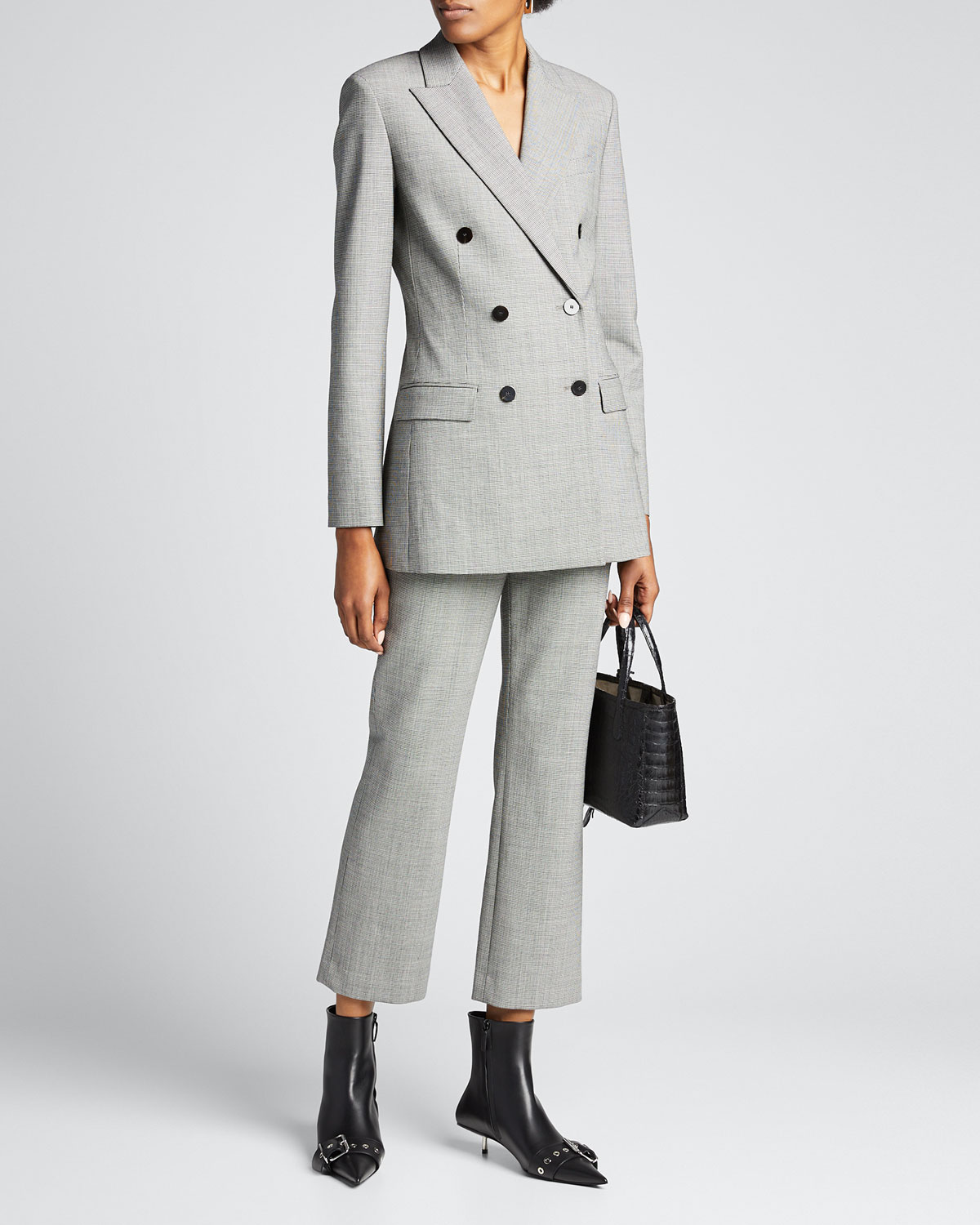 Theory Jackets DOUBLE-BREASTED TAILORED BLAZER