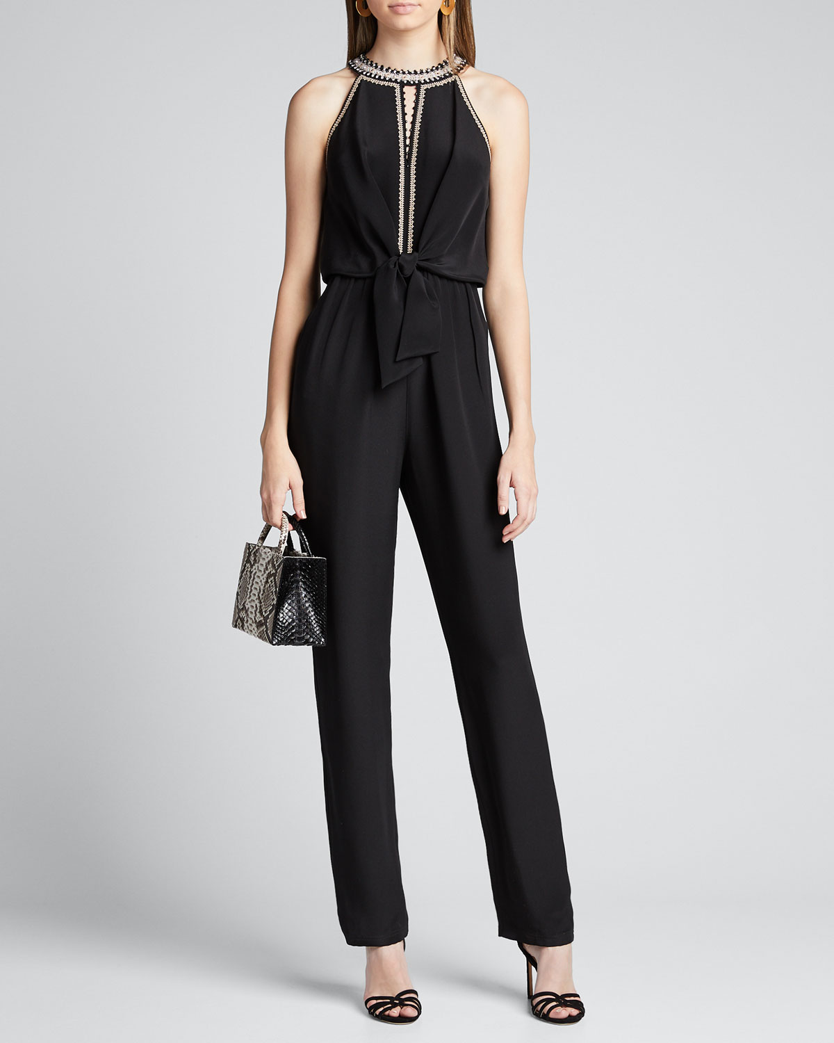 Kobi Halperin Suits AMATA SILK HALTER JUMPSUIT